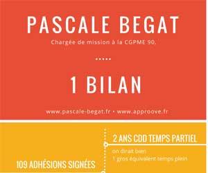 Pascale Bégat - Chargée de mission CGPME - Bilan