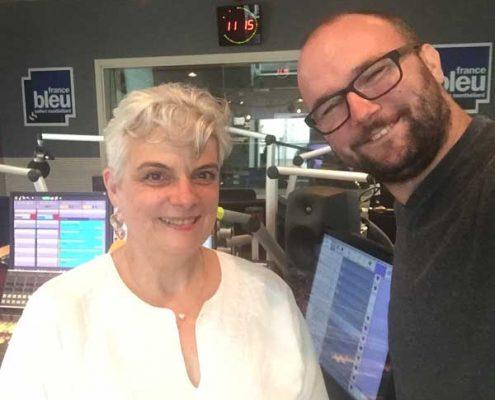 Pascale Bégat, Community Manager, interviewée par Nicolas Salin, sur France Bleu Belfort Montbéliard. Les réseaux sociaux pour les pros !