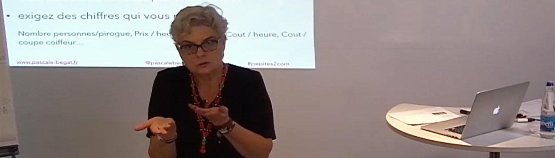 Pascale Bégat, anime une formation sur les réseaux sociaux