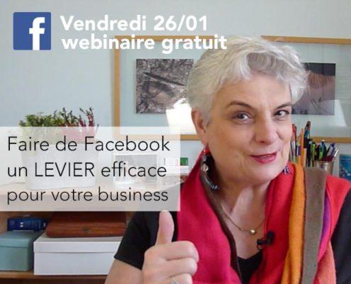 Webinaire gratuit, Faire de facebook un levier pour votre entreprise !