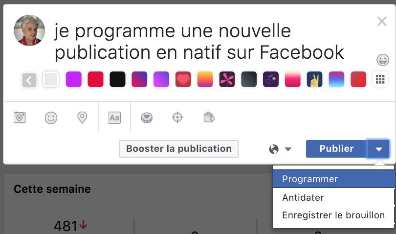Comment programmer ses publications dans les Pages Facebook