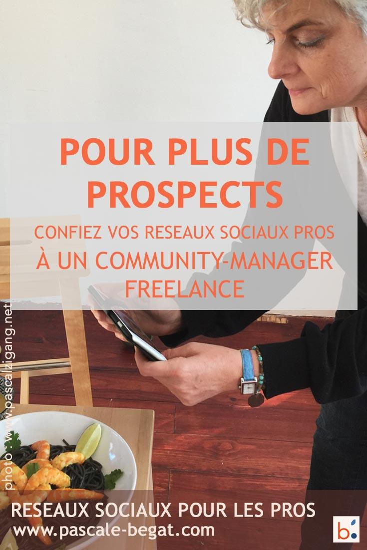 Confiez vos réseaux sociaux pro à Pascale Begat - community manager freelance