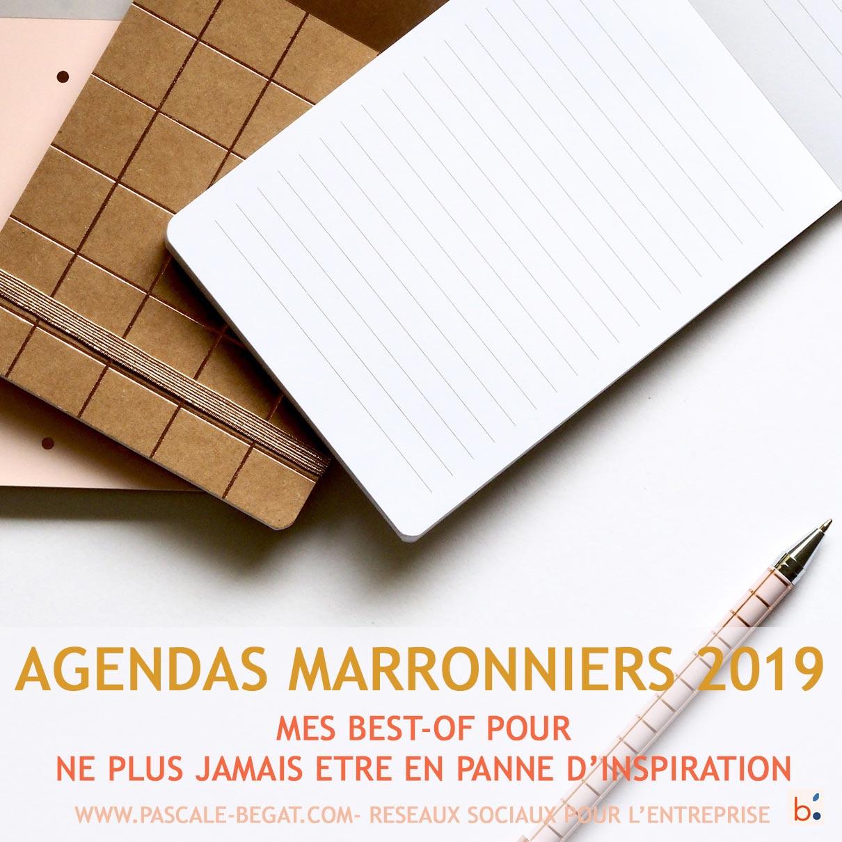 Agendas maronniers 2019 : mes best-of pour ne plus jamais être en panne d'inspiration pour votre blog et vos réseaux sociaux
