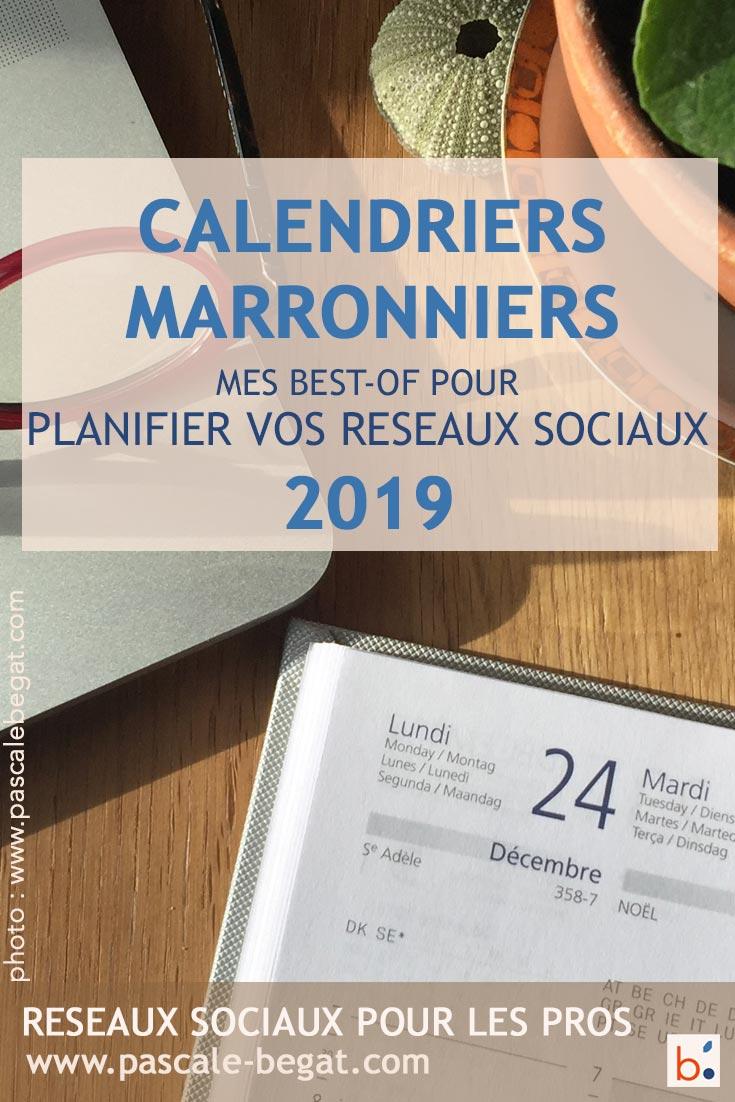 Mes meilleurs calendriers marketing et réseaux sociaux #Marronniers #2019 #marketingdigital #réseauxsociaux