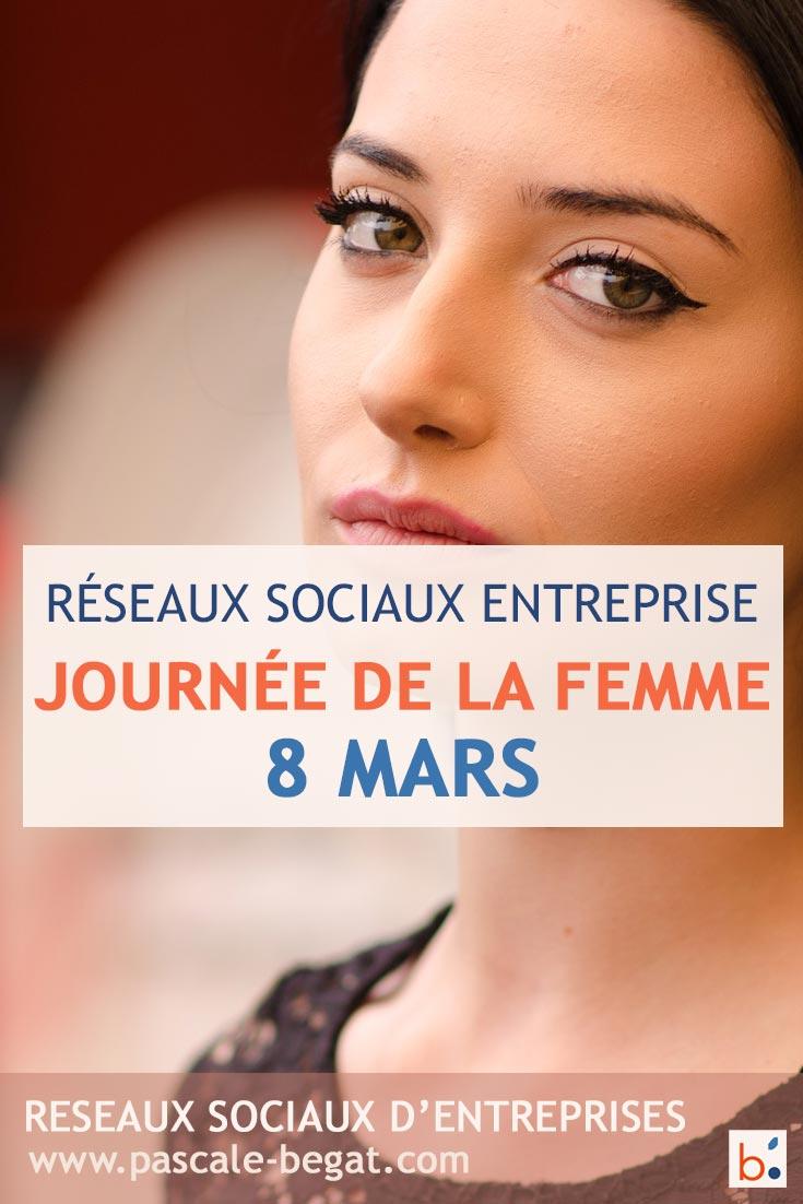 Journée internationale de la femme sur les réseaux sociaux