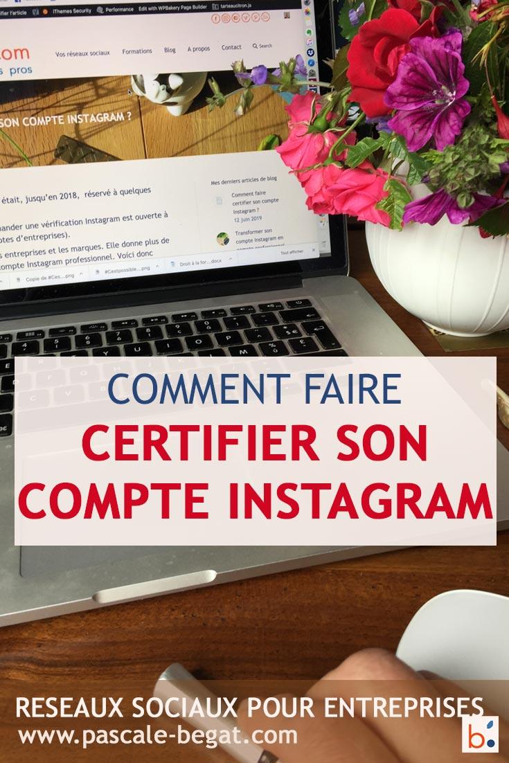 certifier compte instagram