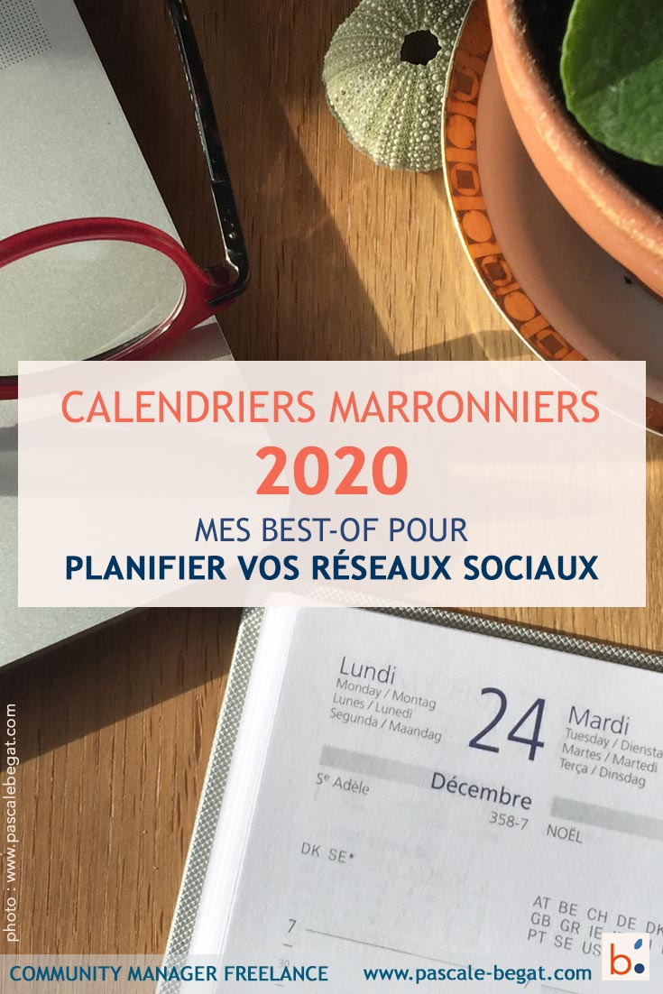 calendriers marronniers 2020